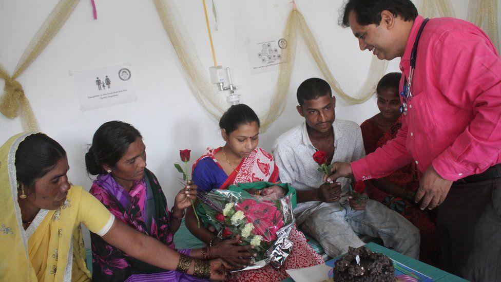 Dr Ganesh Rakh celebrates the birth of a baby girl