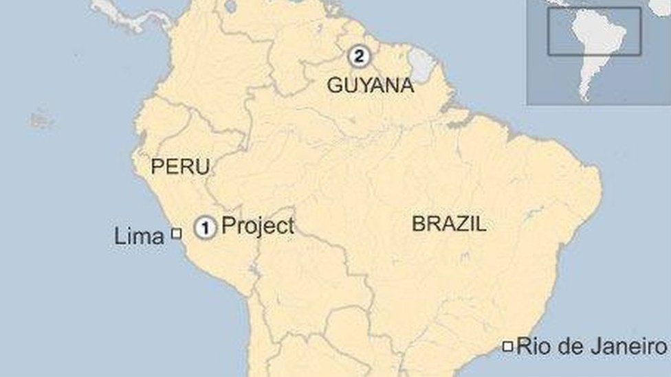 Map of rainforest projects