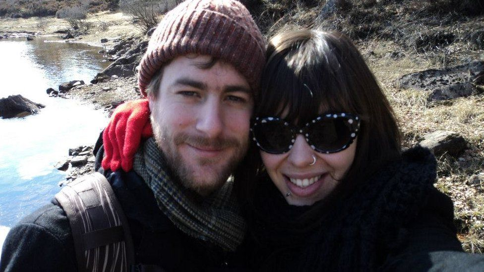 Michael O'Connor and his girlfriend Sara Badel