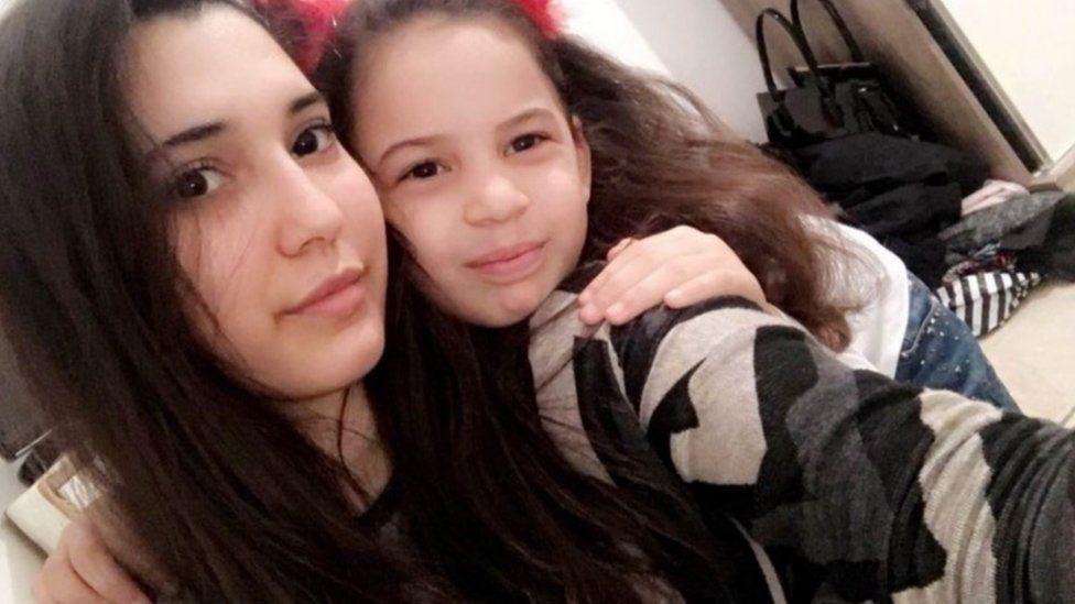 Angel (left) and Maya El Zubaidy