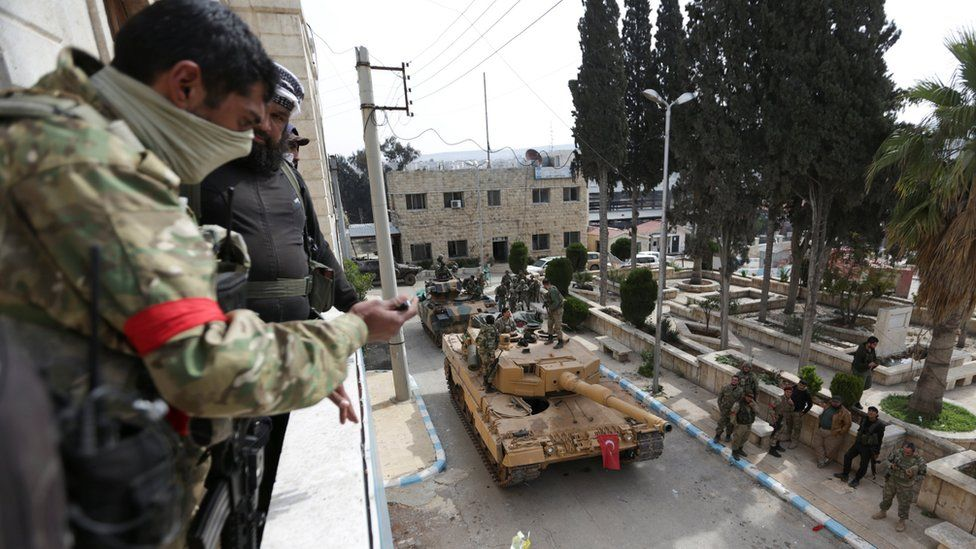 Turkish forces and Free Syrian army enter Afrin on 18 March 2018