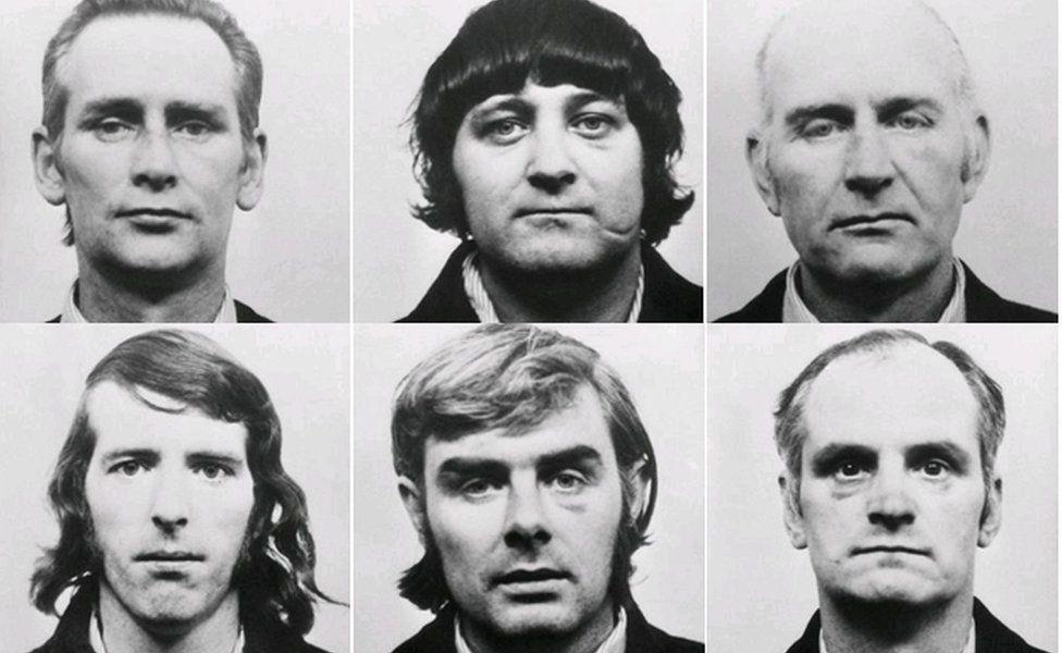 Photos of the six men