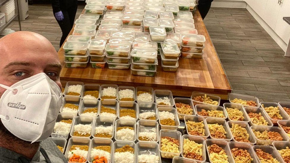 Mike Hind and his meals for children