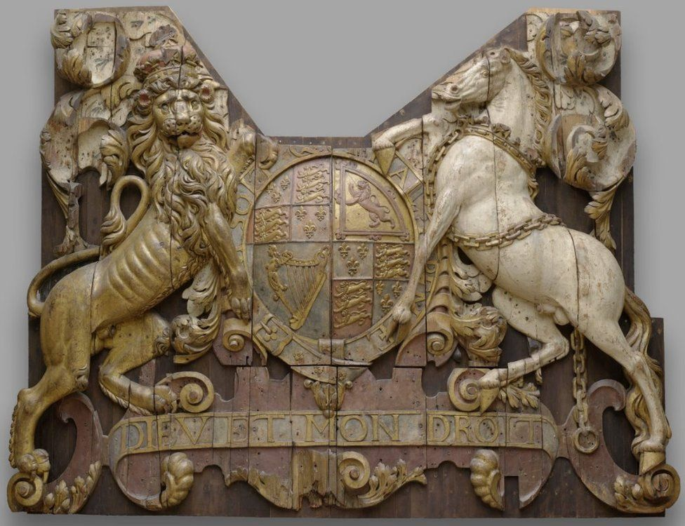 Stern carving from the Royal Charles, anonymous, c. 1663 - c. 1664