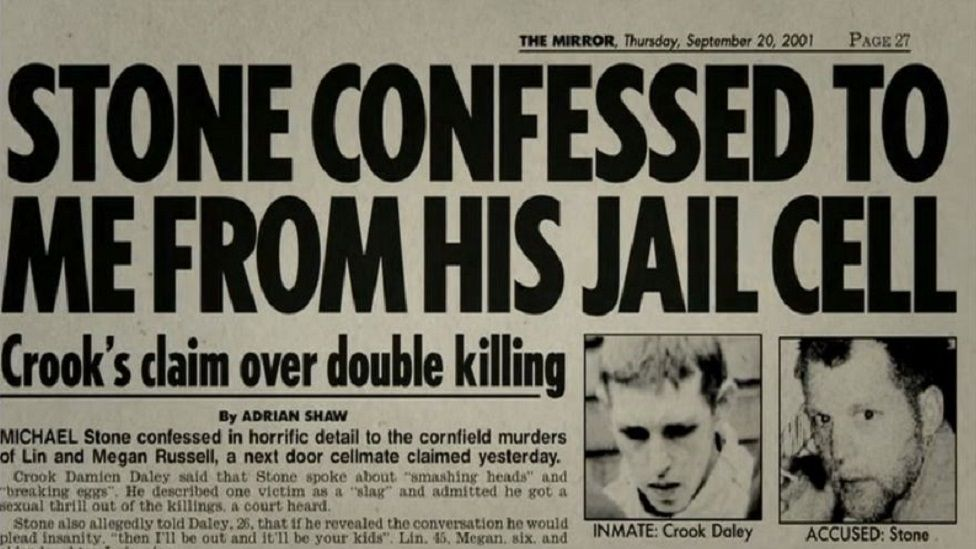Newspaper report of cell confession