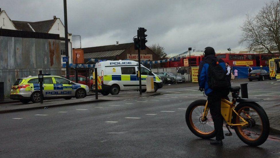 Scene of pedestrian crash