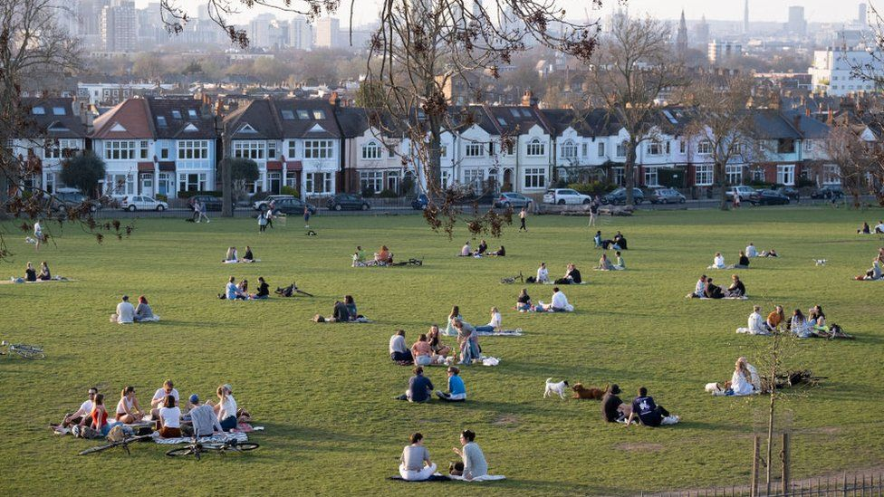South London park in March 2021