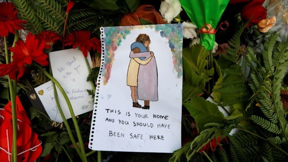 A cartoon tribute saying This is your home and you should have been safe here