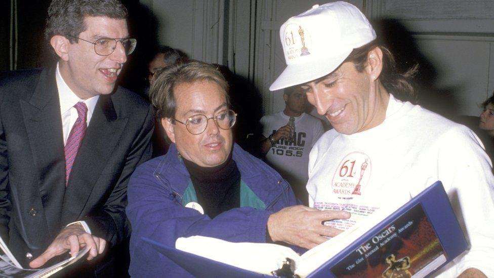 Marvin Hamlisch, Allan Carr and Kenny Ortega