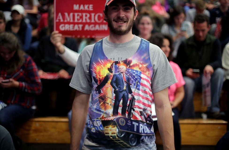 Trump supporters in Wisconsin on 2 November, 2016