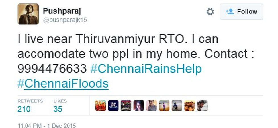 I live near Thiruvanmiyur RTO. I can accomodate two ppl in my home. Contact : 9994476633 #ChennaiRainsHelp #ChennaiFloods
