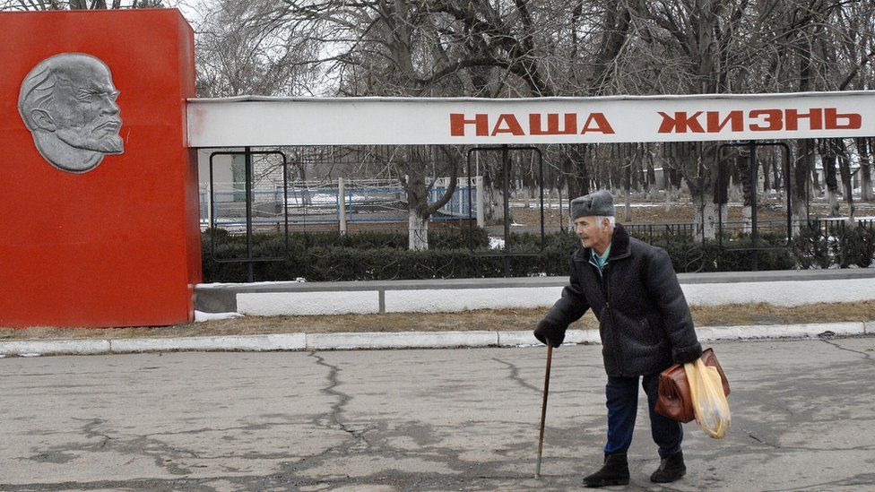 """A sign in Stavropol says """"our life"""", 8 Feb 08"""