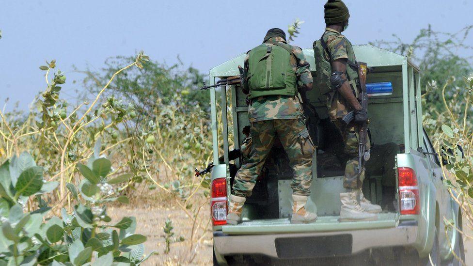 Nigerian soldiers in Borno state - archive shot