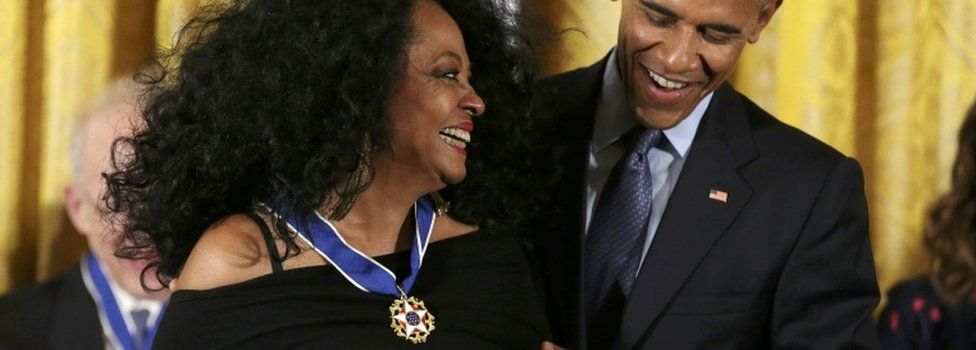 Diana Ross is awarded the medal in 2016