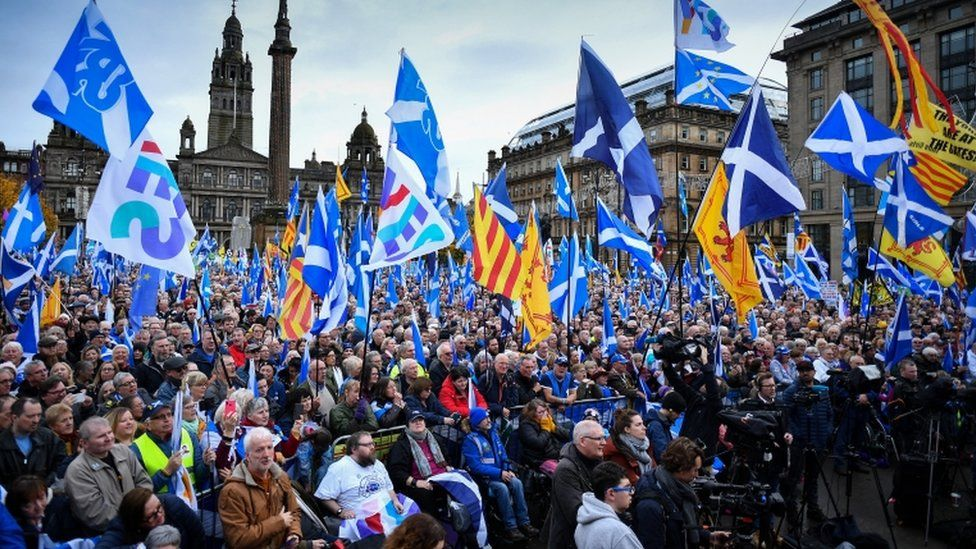 rally in Glasgow