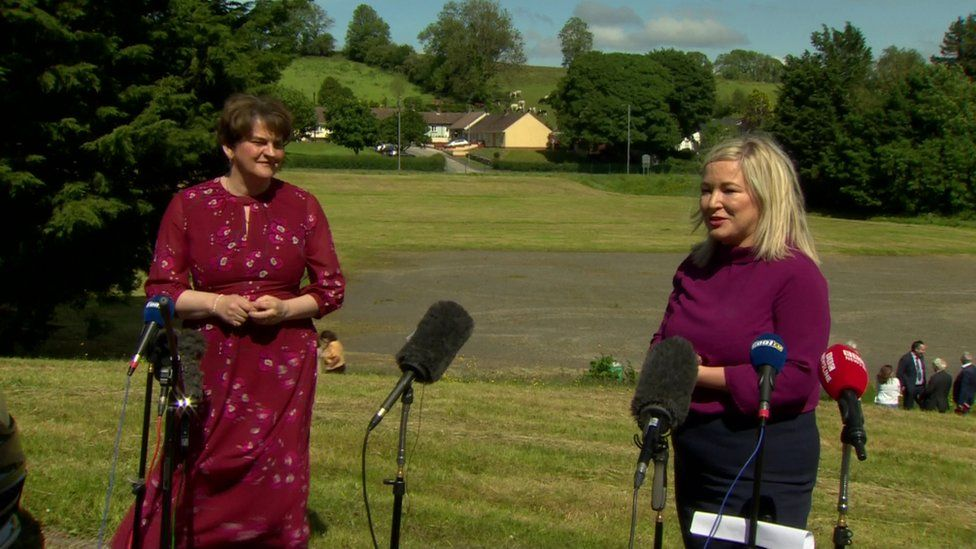 Mrs Foster and Michelle O'Neill hosted their final post executive meeting press conference on Thursday
