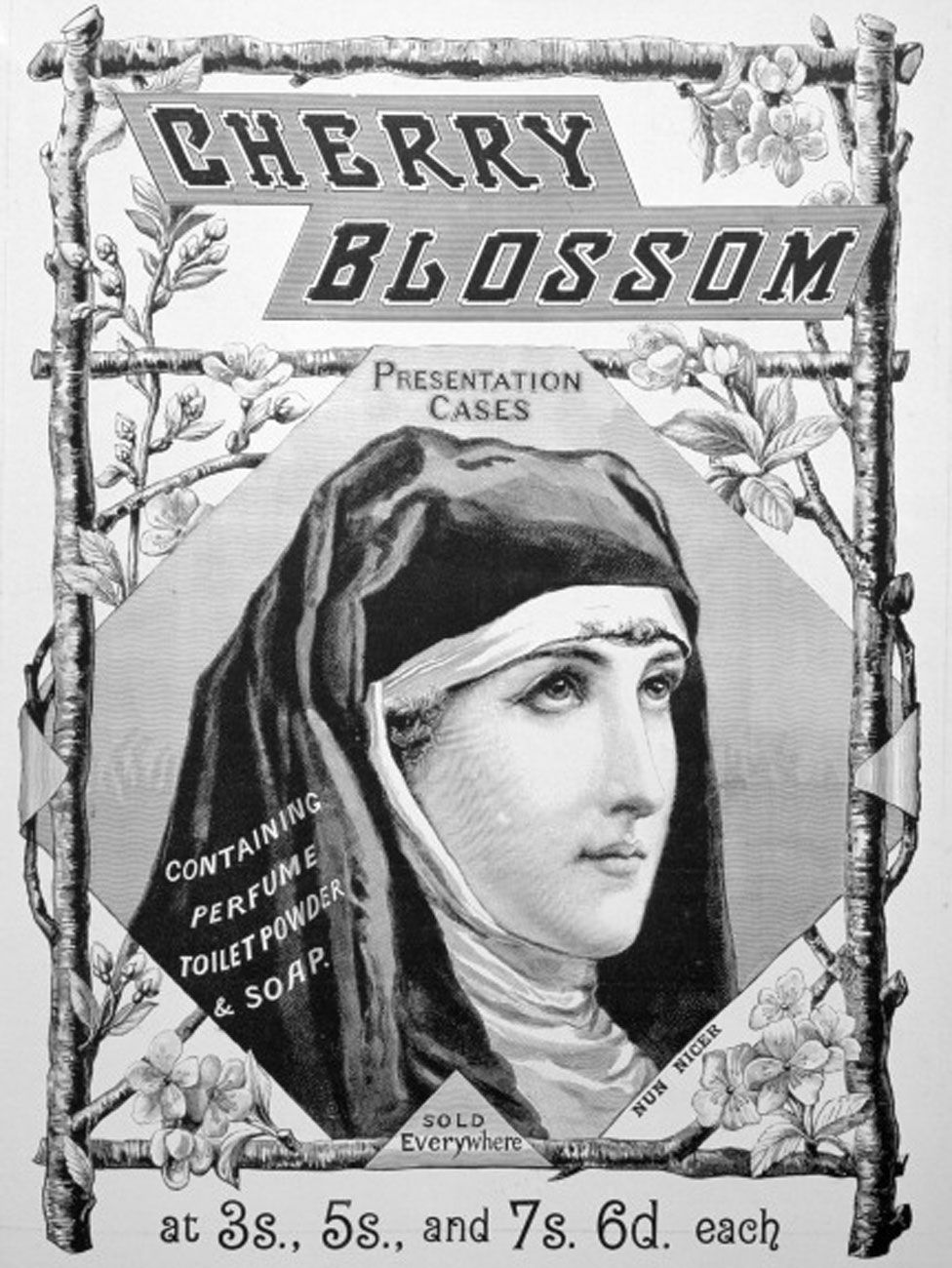 Nun in an advert for cosmetics