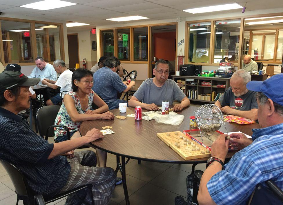 Residents playing Bingo