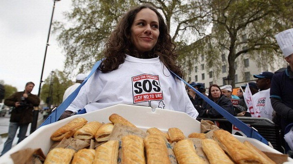 Protestor against pasty tax