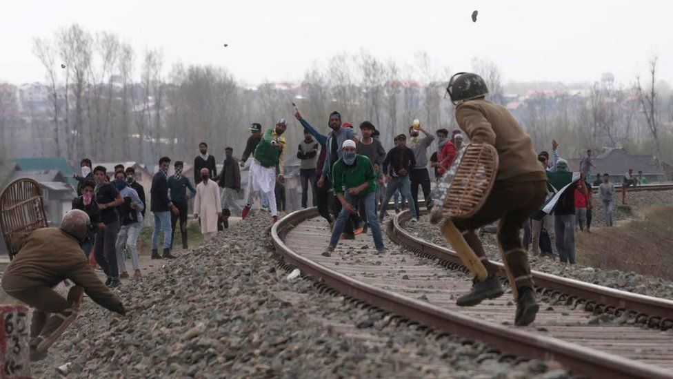 Clashes between security forces and stone pelters in Kashmir have become routine