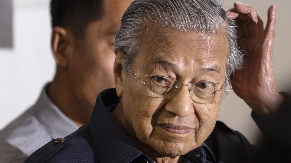Mahathir Mohamad walks in to a press conference in Kuala Lumpur, Malaysia
