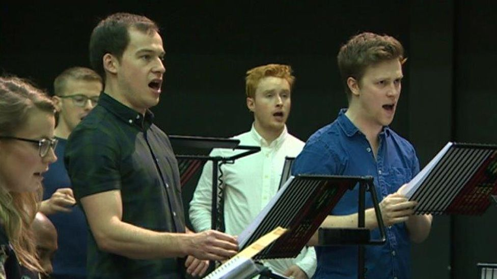 Rehearsals for the musical
