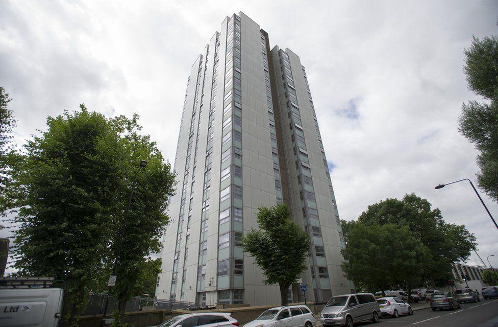 Blashford tower on the Chalcots Estate in Camden