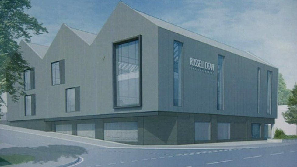 An artist's impression of the new shop