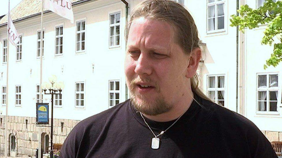 A picture showing the Swedish politician Patrik Liljeglod