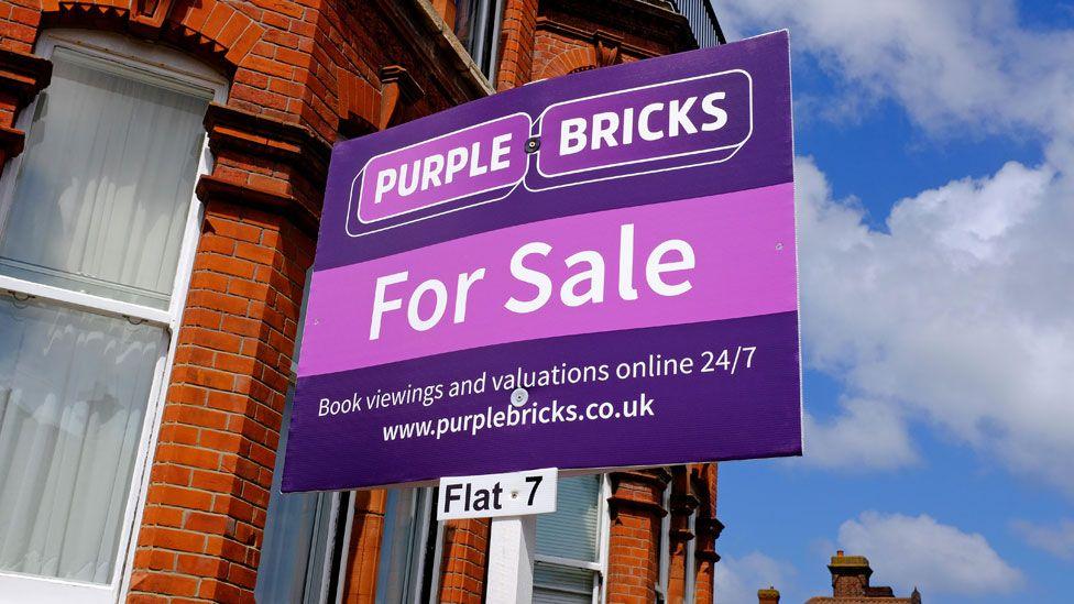 Purple Bricks sale sign