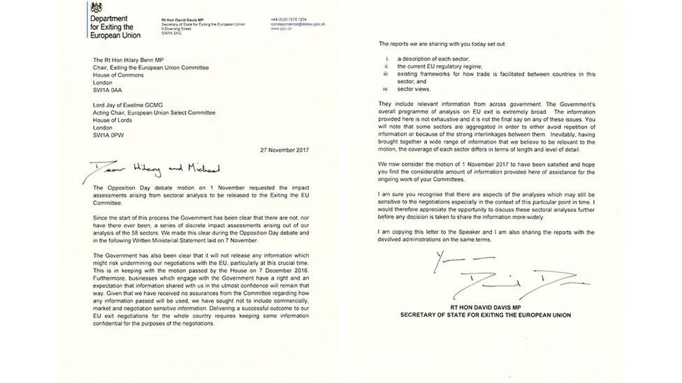 Letter from David Davis