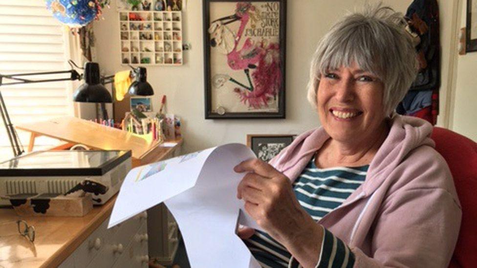 Jill Murphy in her studio