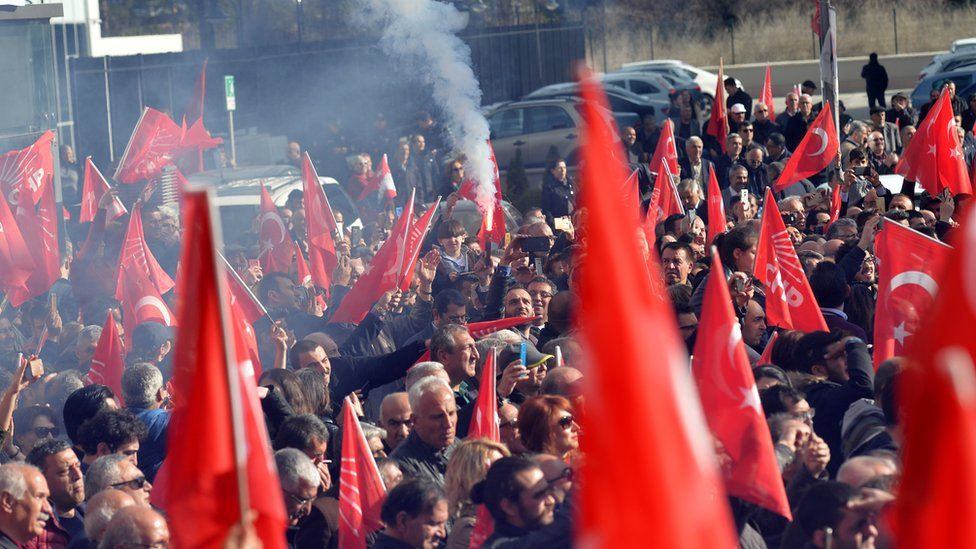 Opposition CHP supporters held a rally on Tuesday to celebrate what they are adamant is victory in Istanbul