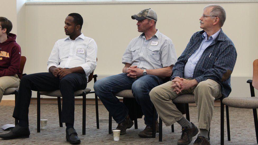 Hukun Abdullahi, Damon Ouradnik, and Rick Hall