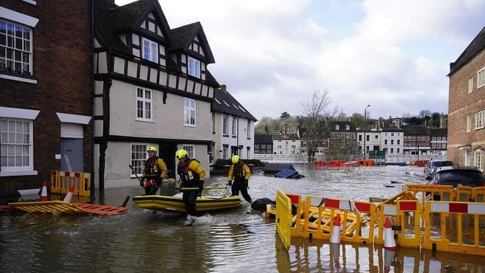 Emergency rescue crew in Bewdley