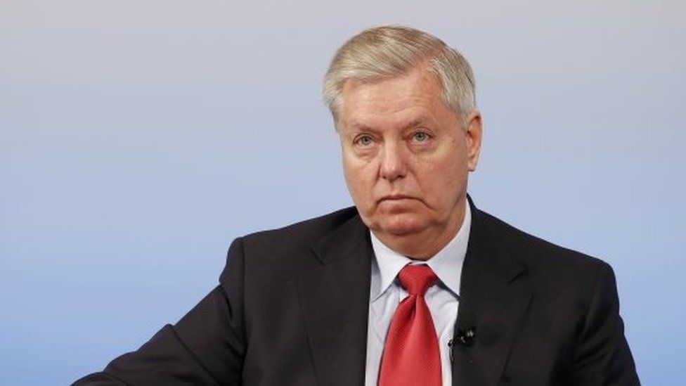 US Senator Lindsey Graham attends the 53rd Munich Security Conference in Munich, Germany.