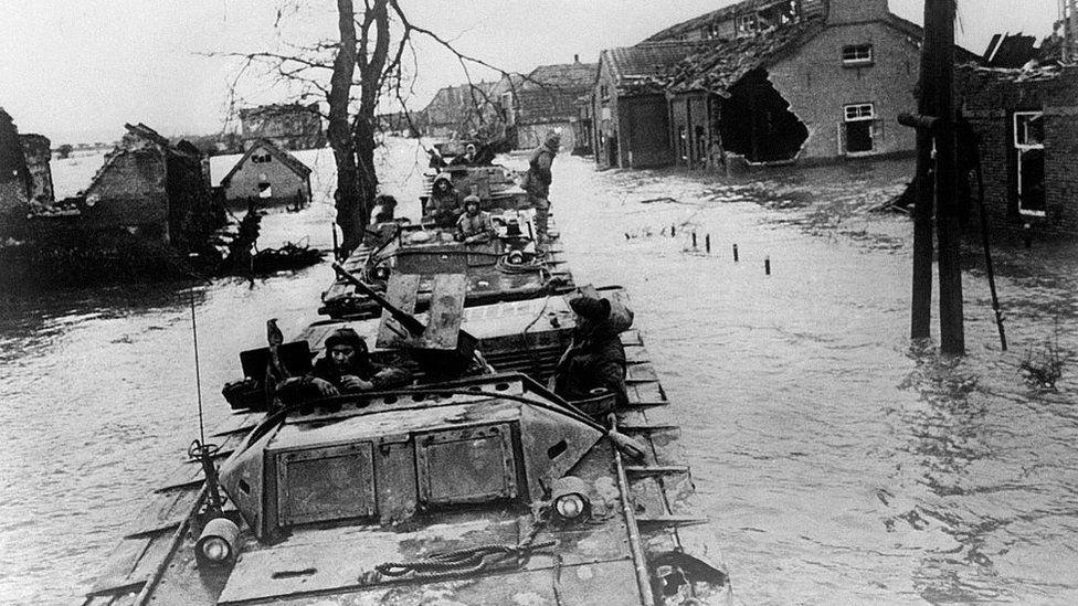 Buffalo military vehicle, circa 1940
