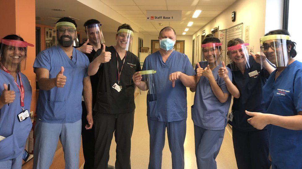 ICU staff at Peterborough City Hospital