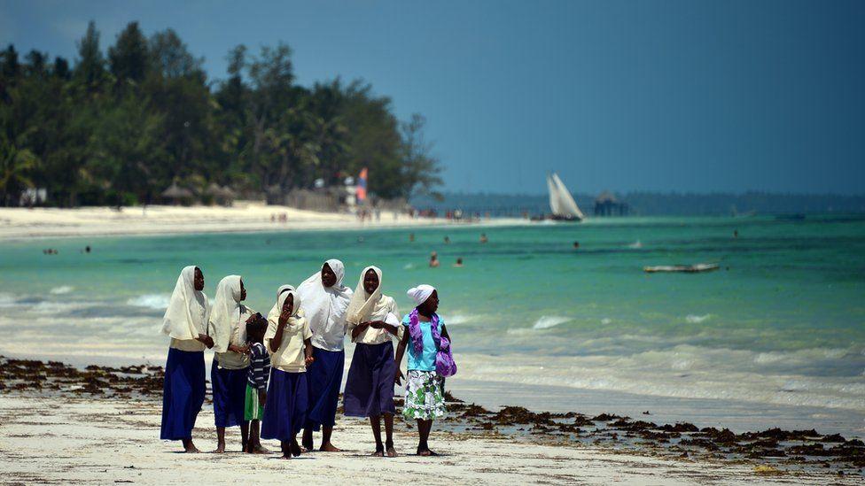 Beach scene in Zanzibar