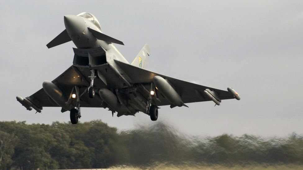 Typhoon taking off from RAF Coningsby in 2006