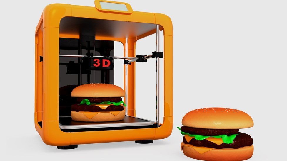 Artist's impression of a 3D food printer