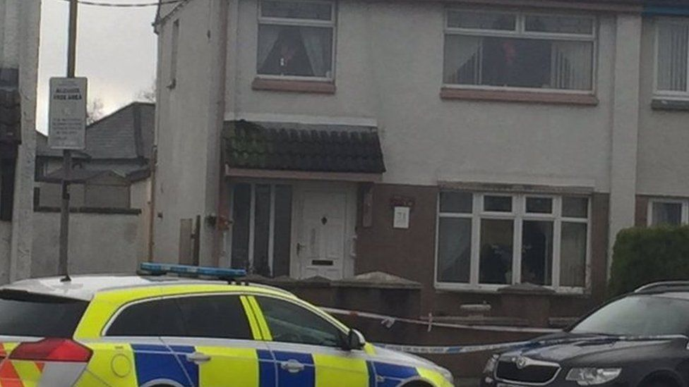 Police are at the scene of the shooting in Coleraine