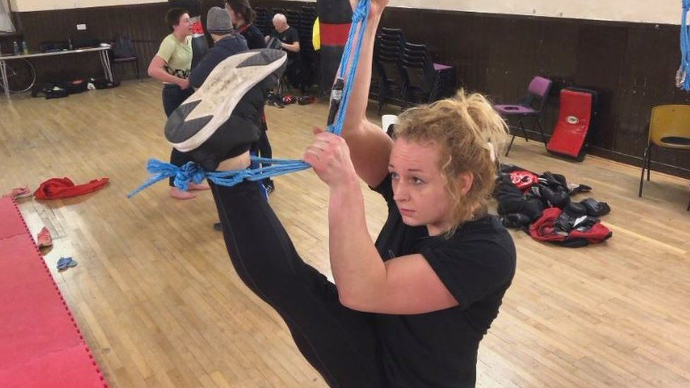 Arizona in the gym