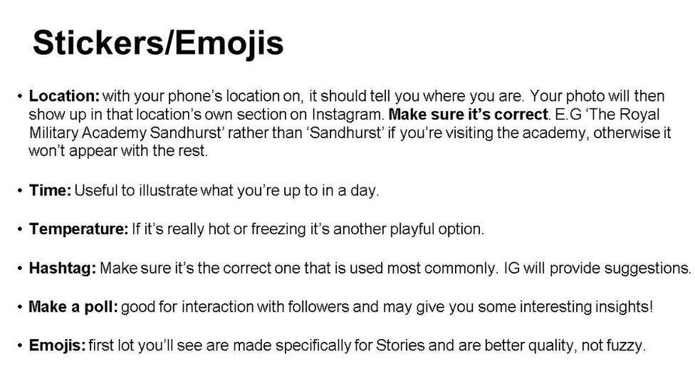 """Slide: """"Stickers/emojis"""""""