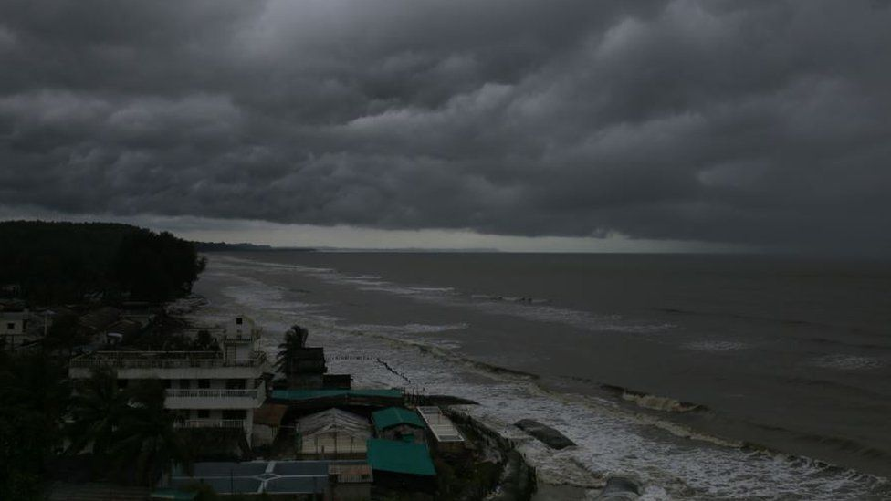 Overcast sky in Cox's Bazar, Chittagong, Bangladesh.