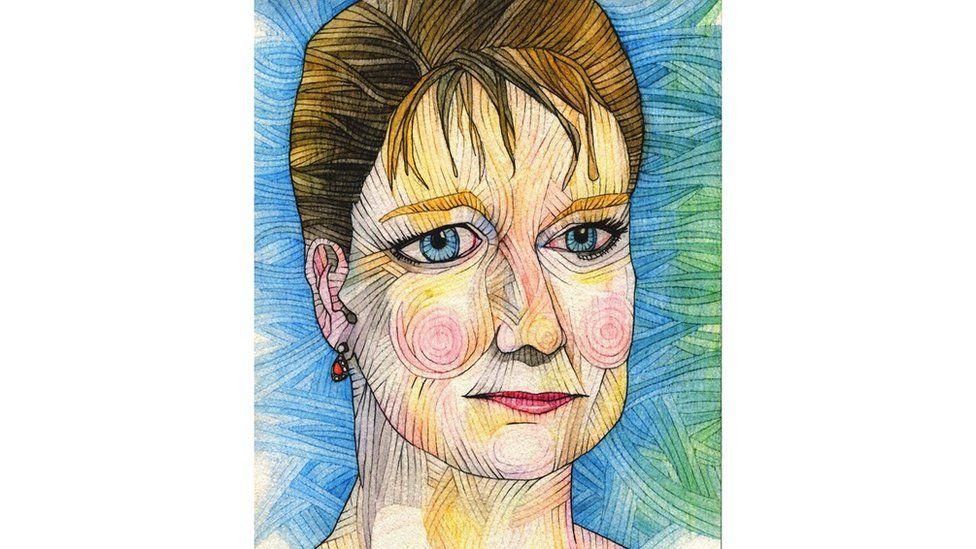 Dehongliad artistig Ani o Leanne wood, arweinydd Plaid Cymru