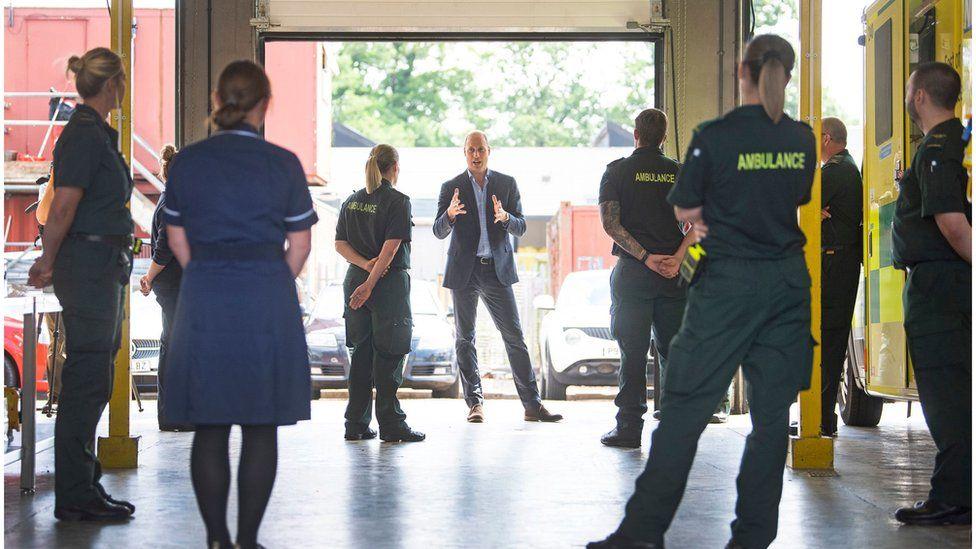Prince William visits the King's Lynn Ambulance Station