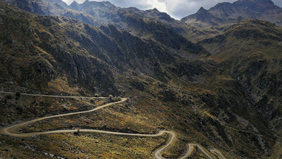 The trek took Ursula through the Pyrenees, near Andorra
