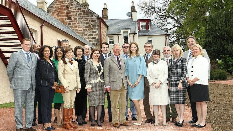 Prince Charles with Mr Vardanyan's delegation at Dumfries House