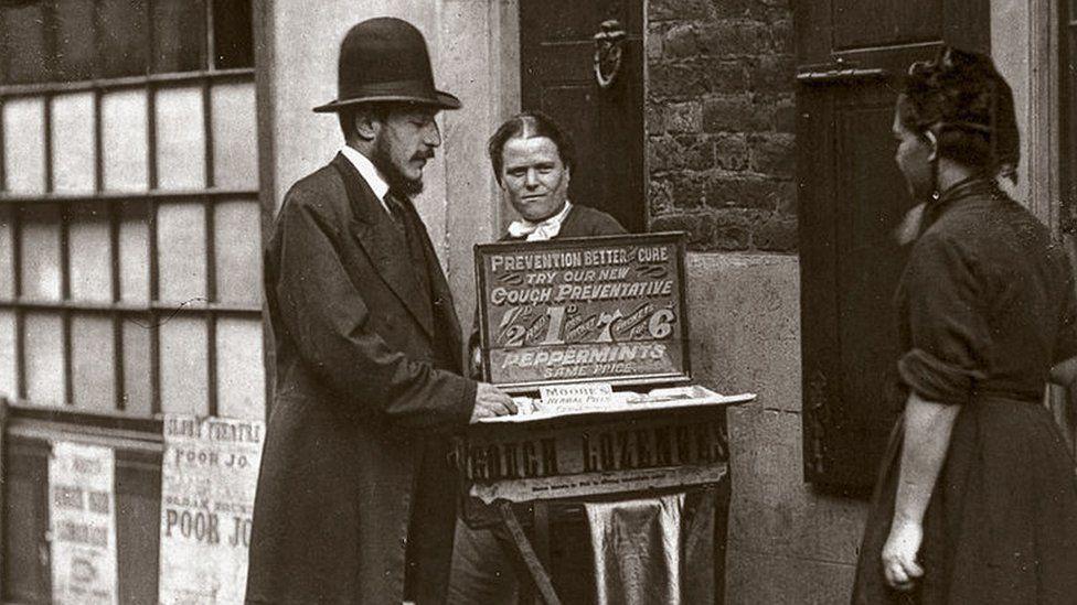 Street remedy seller 1877